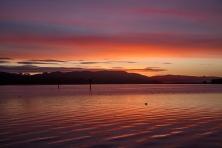 Boat Wake at Sunrise